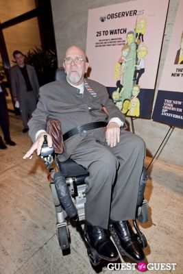chuck close in The New York Observer 25th Anniversary