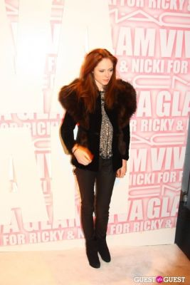 coco rocha in MAC Viva Glam Launch with Nicki Minaj and Ricky Martin