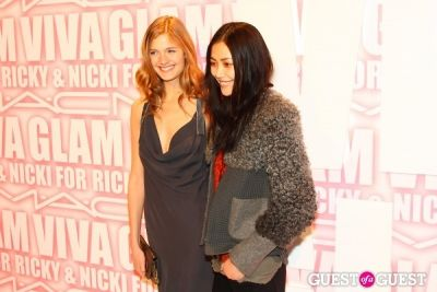 liu wen in MAC Viva Glam Launch with Nicki Minaj and Ricky Martin