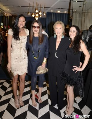 iran issa-khan-and-susanne-birbragher in Sergio Rossi Party at Bal Harbour Shops