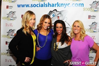 rhiannon ally in SocialSharkNYC.com Launch Party