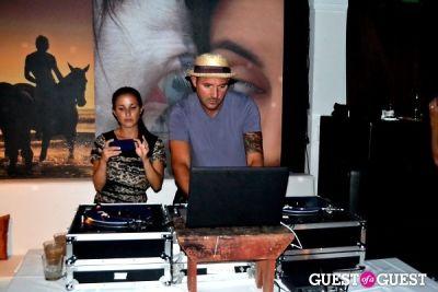 dj clockwork in Veronica Webb and Chris Del Gatto celebrate their Hamptons Cover
