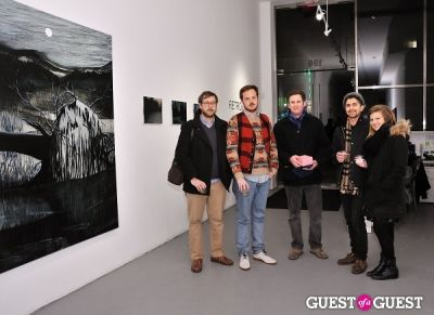 dave harper in Retrospect exhibition opening at Charles Bank Gallery