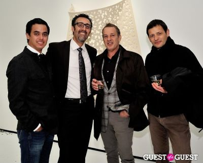 """oriano galloni in Ricardo Rendon """"Open Works"""" exhibition opening"""