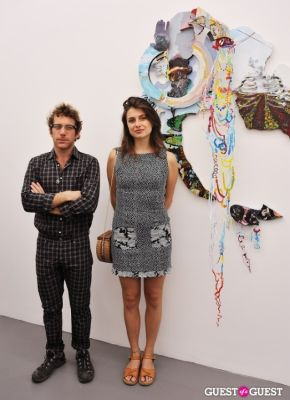 dustin yellin in Third Order exhibition opening event at Charles Bank Gallery