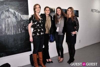 elizabeth hirsch in Retrospect exhibition opening at Charles Bank Gallery