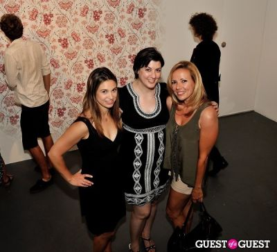 christina lessa in Inglorious Materials exhibition opening at Charles Bank Gallery