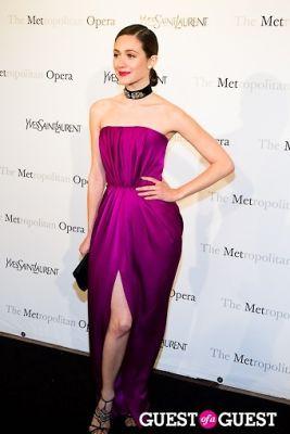 emmy rossum in Yves Saint Laurent Sponsors The Metropolitan Premiere of Jules Massenet's Manon