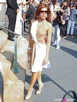 eva mendes in Salvatore Ferragamo Presents Women's Resort 2012 Collection