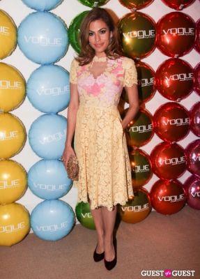 eva mendes in Vogue Eyewear Launch