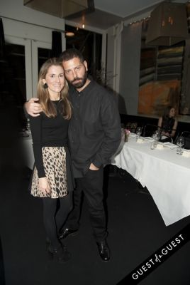 marina larroude in Fausto Puglisi celebrates his Emanuel Ungaro FW15 Collection with an intimate dinner at Wallse