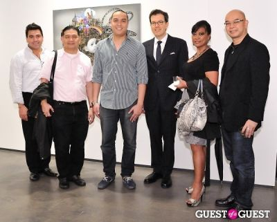 jojo rozon in Ronald Ventura: A Thousand Islands opening at Tyler Rollins Gallery