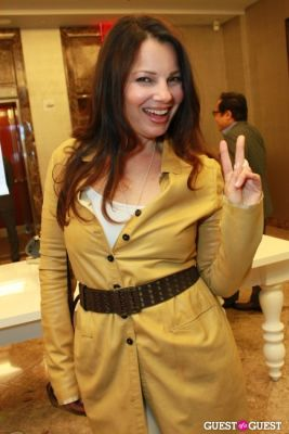 fran drescher in Tiffany Leather Collection Cocktail Party