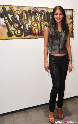 geena rocero in Ronald Ventura: A Thousand Islands opening at Tyler Rollins Gallery