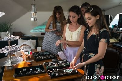 gigi falk in ADORNIA Jewelry and 6 Shore Road Host Pop-Up Shop Aboard Yacht at Navy Beach