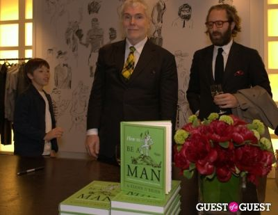 glenn obrien in How To Be A Man Book Launch