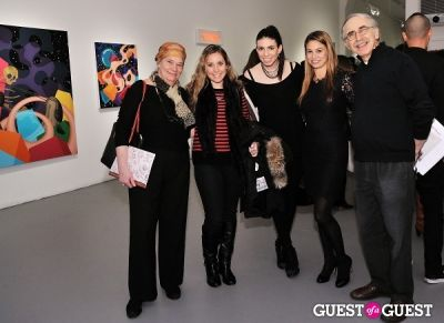 alex goldstein in Retrospect exhibition opening at Charles Bank Gallery