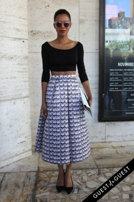 grasie mercedes in NYFW Style From the Tents: Street Style Day 1