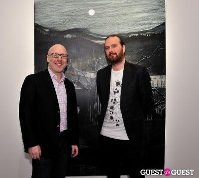 guy regal in Garrett Pruter - Mixed Signals exhibition opening