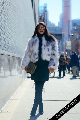 hannah bronfman in NYFW Street Style Day 1