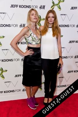 heidi mount in Jeff Koons for H&M Launch Party
