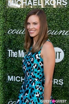 hilary swank in Michael Kors 2013 Couture Council Awards