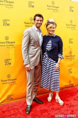 hugh jackman in Veuve Clicquot Polo Classic at New York