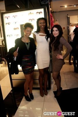 inem akpan in Glamour Mag and Bebe's Glam Night Out