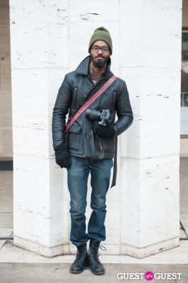 jd barnes in NYC Fashion Week FW 14 Street Style Day 7