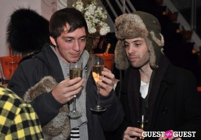 jake stavis in Veuve Clicquot celebrates Clicquot in the Snow