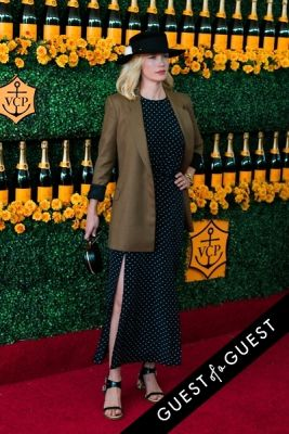 january jones in The Sixth Annual Veuve Clicquot Polo Classic Red Carpet