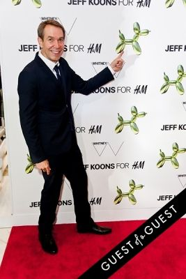jeff koons in Jeff Koons for H&M Launch Party