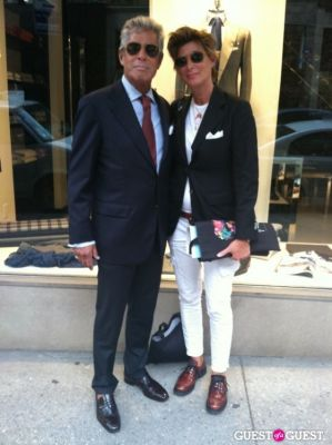 jeff and-melissa-lederer in Fashion's Night Out NYC 2012