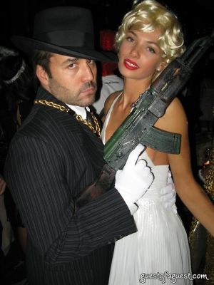 jeremy piven in Halloween at Rose Bar