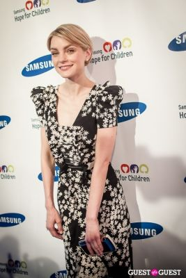 jessica stam in Samsung Hope For Children Gala 2013