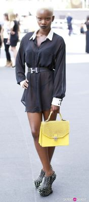 joanne leepaul in NYFW Day 2 Street Style At The Tents