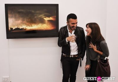 jorge baron-munoz in Kim Keever opening at Charles Bank Gallery