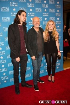 "musician peter-frampton-and-actress-mia-rose-frampton in Ringo Starr Honored with ""Lifetime of Peace & Love Award"" by The David Lynch Foundation"