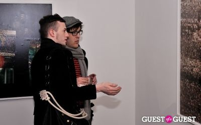andrew bevan in Garrett Pruter - Mixed Signals exhibition opening