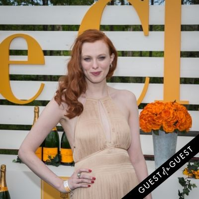 karen elson in Veuve Clicquot Polo Classic 2014