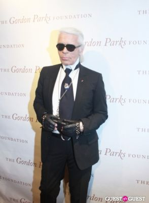 karl lagerfeld in The Gordon Parks Foundation Awards Dinner and Auction