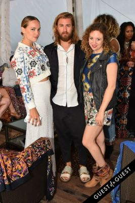 faran krentcil in Alice + Olivia Montauk Beach BBQ