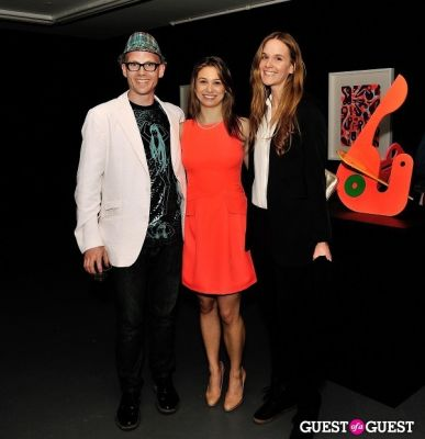 elizabeth hirsch in Ryan McGinness - Women: Blacklight Paintings and Sculptures Exhibition Opening