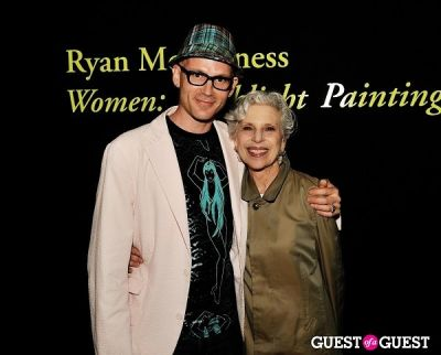 sandra gering in Ryan McGinness - Women: Blacklight Paintings and Sculptures Exhibition Opening