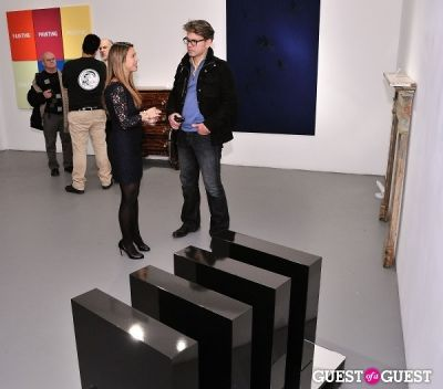 arthur soliemanpour in Retrospect exhibition opening at Charles Bank Gallery
