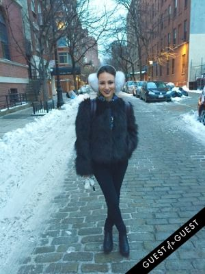 kristina lopez in NYC Street Style Winter 2015