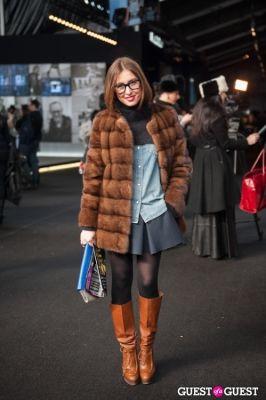 ksenniya grise in NYC Fashion Week FW 14 Street Style Day 1