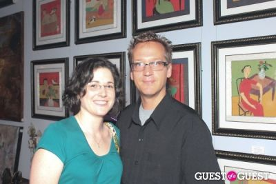 laetitia and-richard-dawson in `Art Crowd Clusters' Opening at gGallery