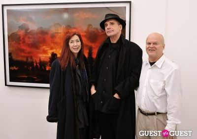 kim keever in Bowry Lane group exhibition opening at Charles Bank Gallery