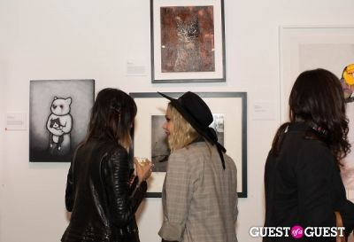 langley fox-hemingway in Cat Art Show Los Angeles Opening Night Party at 101/Exhibit